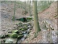 SE0721 : Footbridge across Crawstone Clough by Humphrey Bolton