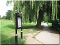 SP3276 : Sign and perimeter path, War Memorial Park, Coventry CV3 by Robin Stott