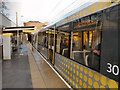 SJ8196 : Trafford Bar Metrolink Station by David Dixon