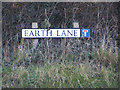 TM5098 : Earth Lane sign by Adrian Cable