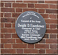 Photo of Dwight D. Eisenhower grey plaque