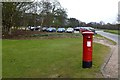 SK5453 : Postbox and Car Park by David Lally