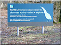 TM4568 : Minsmere Nature Reserve sign by Adrian Cable