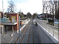SJ8492 : West Didsbury Tramlink station by David Hawgood