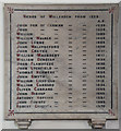 TQ2184 : St Mary, Neasden Lane, Church End - Vicars memorial by John Salmon