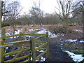 TM4567 : Gated entrance to Westleton Walks by Adrian Cable
