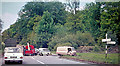 SU9689 : Accident on A40 near Beaconsfield, 1962 by Ben Brooksbank