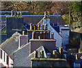 NG4843 : Portree rooftops by John Allan