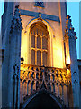 TQ3182 : Floodlighting on St. Mark's, Myddelton Square by Robin Webster