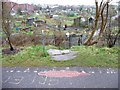 ST6174 : Gated entrance to Packers Allotment by Christine Johnstone