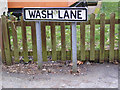 TM4269 : Wash Lane sign by Adrian Cable