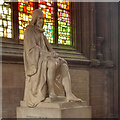 SJ8398 : Statue of Humphrey Chetham, Manchester Cathedral by David Dixon