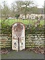 TL1097 : Milepost at Water Newton by Alan Murray-Rust