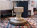 TQ2976 : Font of Christ Church, Clapham by Stephen Craven