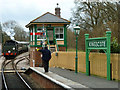 TQ3635 : Train arriving at Kingscote, Bluebell Railway : Week 13