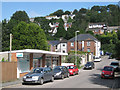 SX9373 : Pharmacy and lock-up garages, Coombe Park Road, Teignmouth by Robin Stott