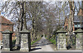 SE7871 : Princess Road entrance to Malton Cemetery by Pauline Eccles