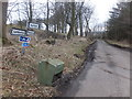 NT9459 : Minor road junction between Lamberton and Ayton by Barbara Carr