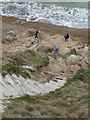 SY8080 : West Lulworth: disappearing steps at Durdle Door by Chris Downer