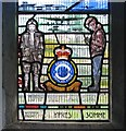 TL3966 : Longstanton: All Saints - RAF 7 Squadron memorial window (detail) by John Sutton