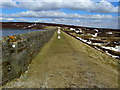 SD9839 : Embankment Top, Keighley Moor Reservoir by Chris Heaton
