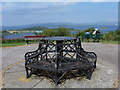 NM8529 : Oban: Pulpit Hill viewpoint benches by Chris Downer