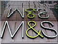 TQ3884 : Stratford: M&amp;S reflected by Chris Downer