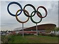 TQ3785 : Stratford: Olympic Rings by Chris Downer