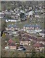SK2853 : Southern parts of Wirksworth from the path below Hob Hall by Andrew Hill
