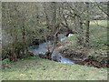 SK2948 : Stream near Idridgehay by Andrew Hill