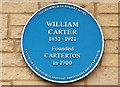 Photo of William Carter and Carterton blue plaque