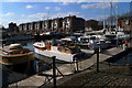 TQ3679 : Moorings, Greenland Dock by Julian Osley