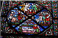 SK9771 : South aisle stained glass window, Lincoln Cathedral by J.Hannan-Briggs