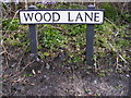 TM5194 : Wood Lane sign by Adrian Cable