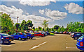SP5762 : Daventry: car-park near site of station by Ben Brooksbank
