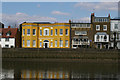 TQ2278 : Lower Mall, Hammersmith, from the river by Christopher Hilton