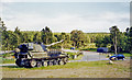NJ5600 : Self-propelled gun at site of Dess station by Ben Brooksbank
