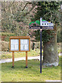 TG0905 : Carleton Forehoe Village sign &amp; Notice Board by Adrian Cable