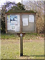 TG0704 : Kimberley Village Notice Board by Adrian Cable