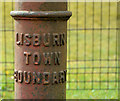 J2464 : Boundary post, Lisburn (4) by Albert Bridge