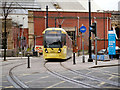 SJ8498 : Metrolink Tram at Victoria by David Dixon