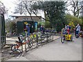 TQ2877 : Bike hire in Battersea Park by David P Howard