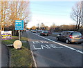 SU1384 : Wootton Bassett Road bus lane, Swindon by John Grayson