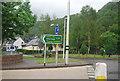 NN1174 : Road sign, A82 by N Chadwick