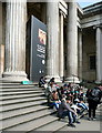 TQ3081 : The steps of the British Museum by Graham Horn