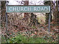TG1208 : Church Road sign by Adrian Cable