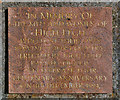 SJ7084 : War Memorial Plaque by David Dixon