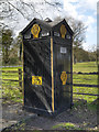 SJ7281 : The AA Box at Mere Corner by David Dixon