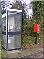 TG1109 : Telephone Box &amp; Norwich Road Postbox by Adrian Cable