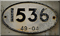 TL4847 : Bridge plate - Whittlesford Parkway station by The Carlisle Kid